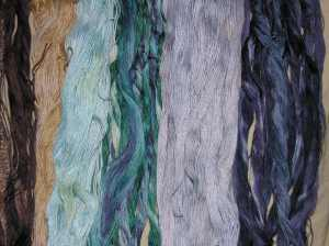 Embroidery thread dyed The distoriated quilter