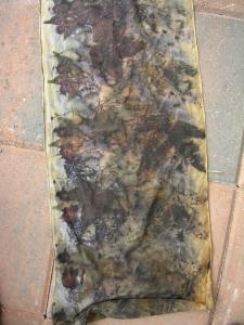 leaf dyed silk dawes