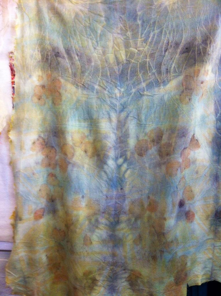 Wool eco printed fabric